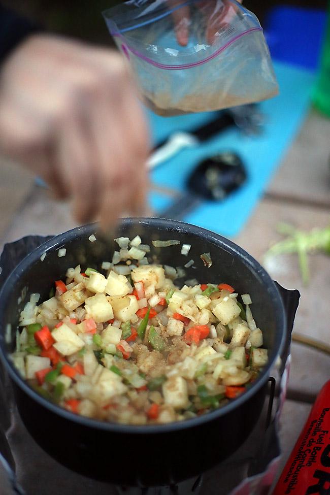Cooking Sweet Potato Corn Chowder
