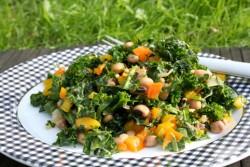 Kale and Black Eyed Pea Salad