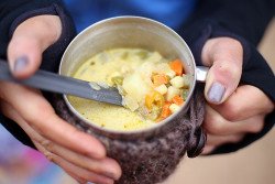 Sweet Potato Corn Chowder Camping Recipe