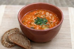 A hearty and easy white bean vegetable soup recipe.