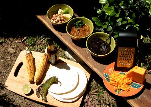 Ingredients for skillet enchilada recipe