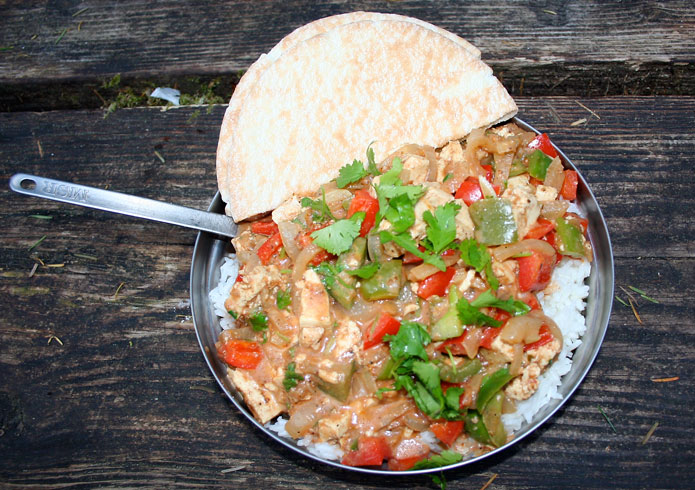 Dirty Gourmet Bell Pepper and Tofu Curry