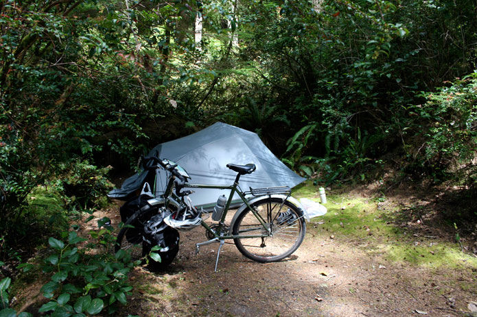 Bike Tent Campsite