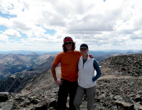 Anne and Drew atop La Plata Peak, CO