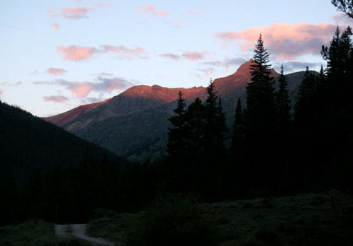 La Plata Peak, CO at sunrise