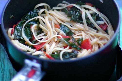 Tomato and Kale Pasta