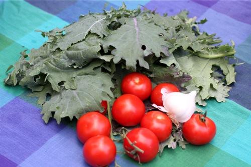 Tomatoes, Kale, and Garlic