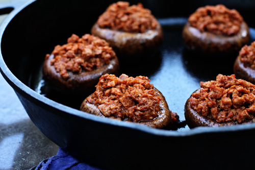 soyrizo-stuffed-mushrooms