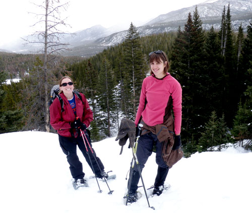 Crystal and Emily in Rocky Mountain National Park