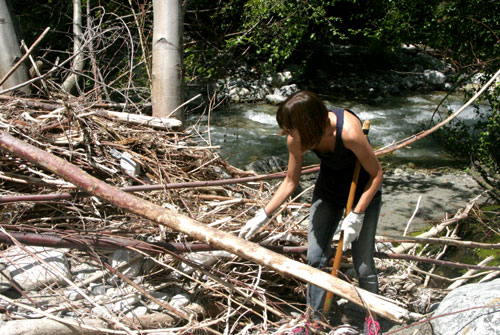 Emily at Mill Creek Cleanup