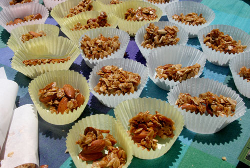 Almond Flax Granola at Mill Creek Cleanup