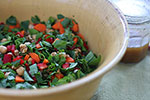 image for Chopped Spinach Salad with Ume Vinaigrette
