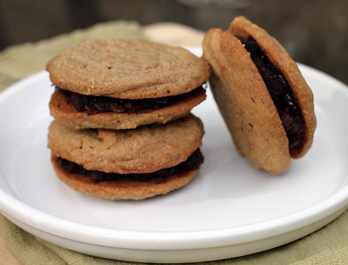 Peanut Butter  Jelly Brownie SandwichesDirty Gourmet