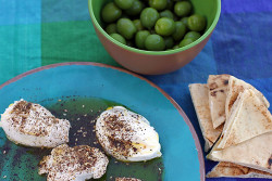 Yogurt Cheese with Za'atar and Olive Oil