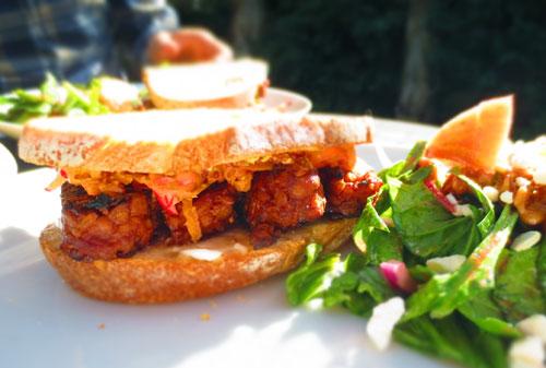 Tempeh BBQ Sandwich