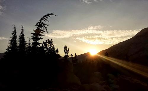 Burro Pass Sunset