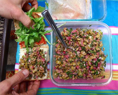 frittata-olive-salad-sandwich