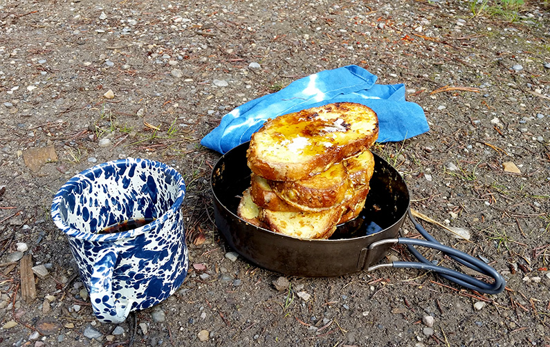 Backpacking French Toast and Coffee