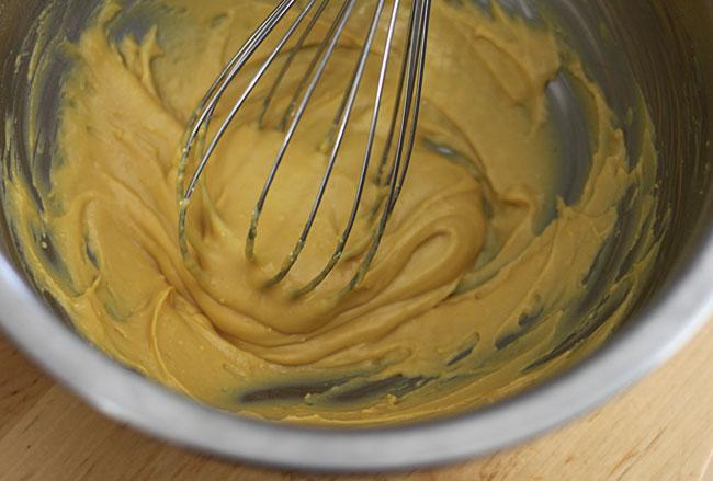 Whisking Chickpea Flour Flatbread Batter