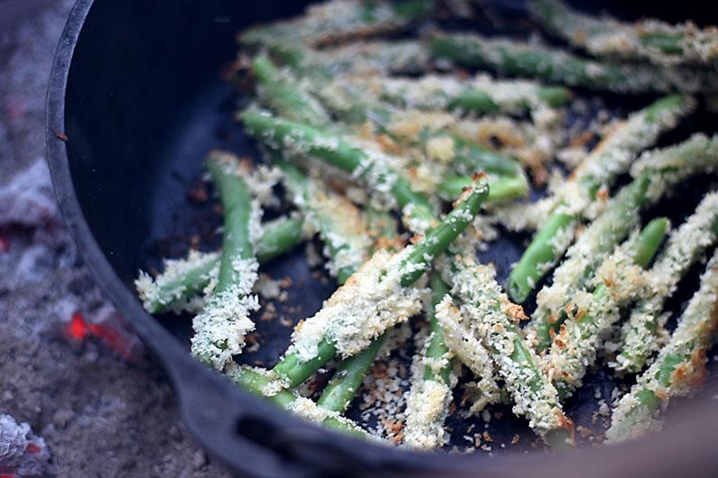 Campfire Dutch Oven Green Bean Fries