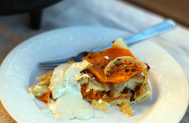 Dutch-Oven-Squash-Galette-with-Cashew-Garlic-Cream-Sauce-4