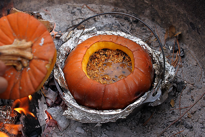 Campfire Roasted Pumpkin Rice