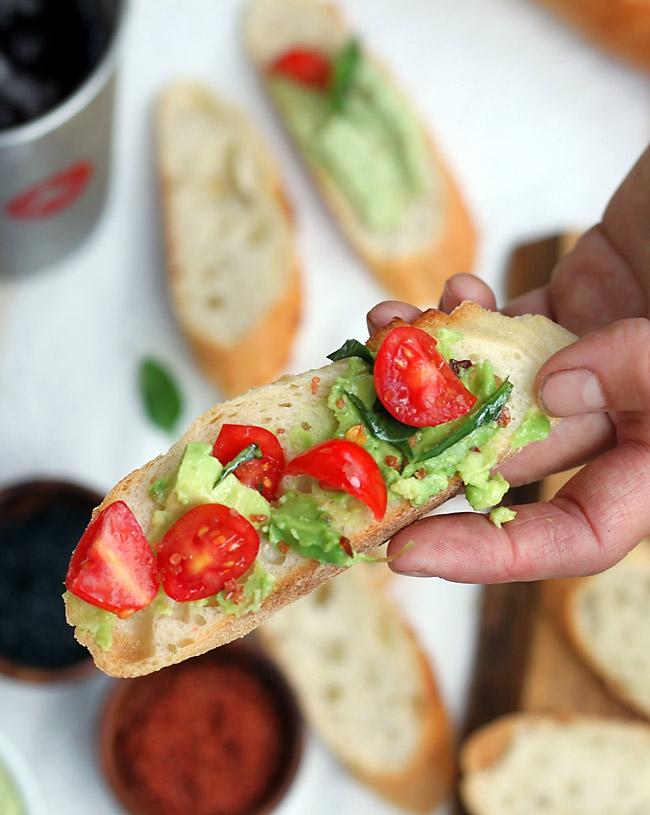 tomato-avocado-picnic-bruschetta
