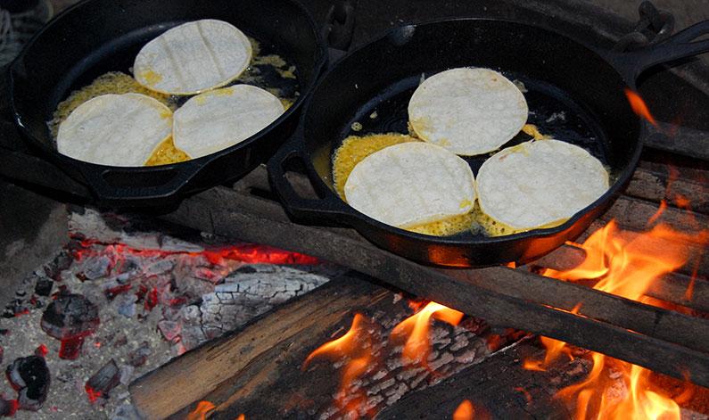 Open Faced Quesadillas