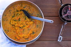 Red Lentil Sweet Potato Dal Backpacking