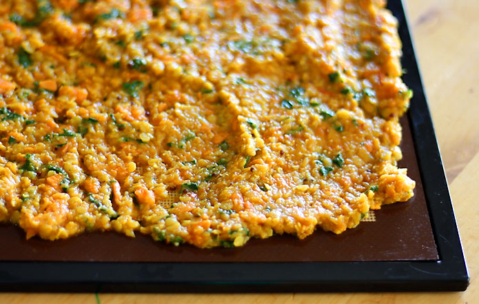 Red Lentil Sweet Potato Dal Dehydrating