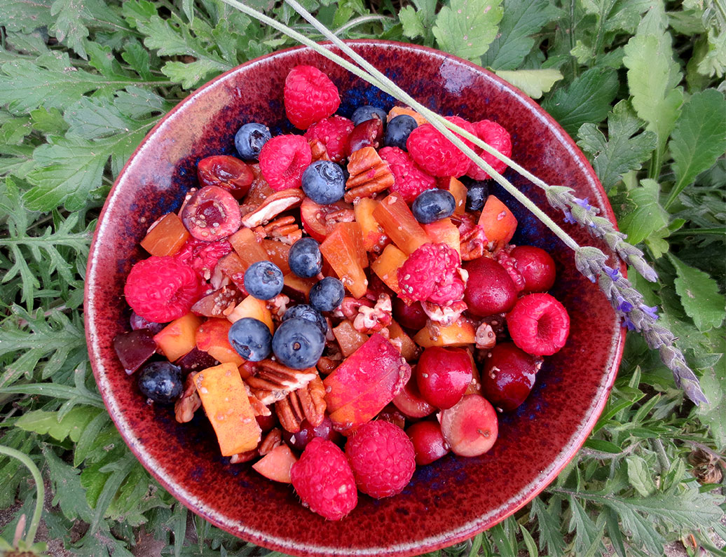 Cherry Pecan Fruit Salad