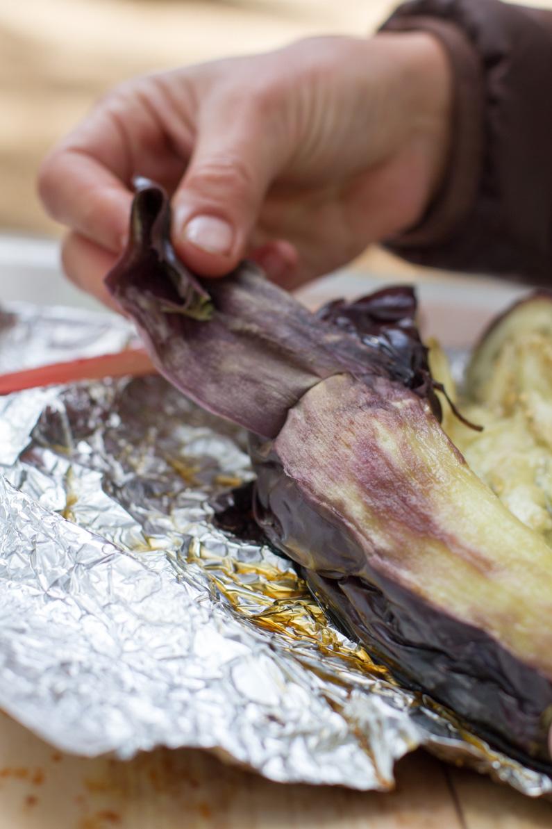 Campfire Roasted Eggplant
